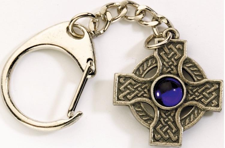 Porte-Clés croix celte avec pierre