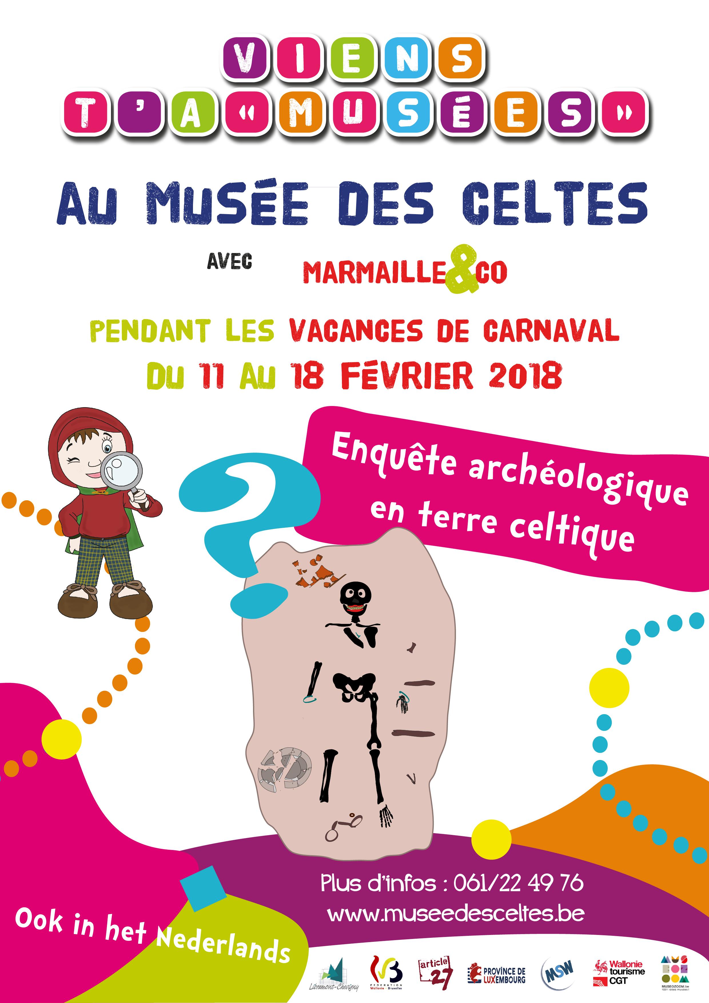 Pour Carnaval, viens t'amuser en famille, au Musée des Celtes du 11 au 18 février. photo