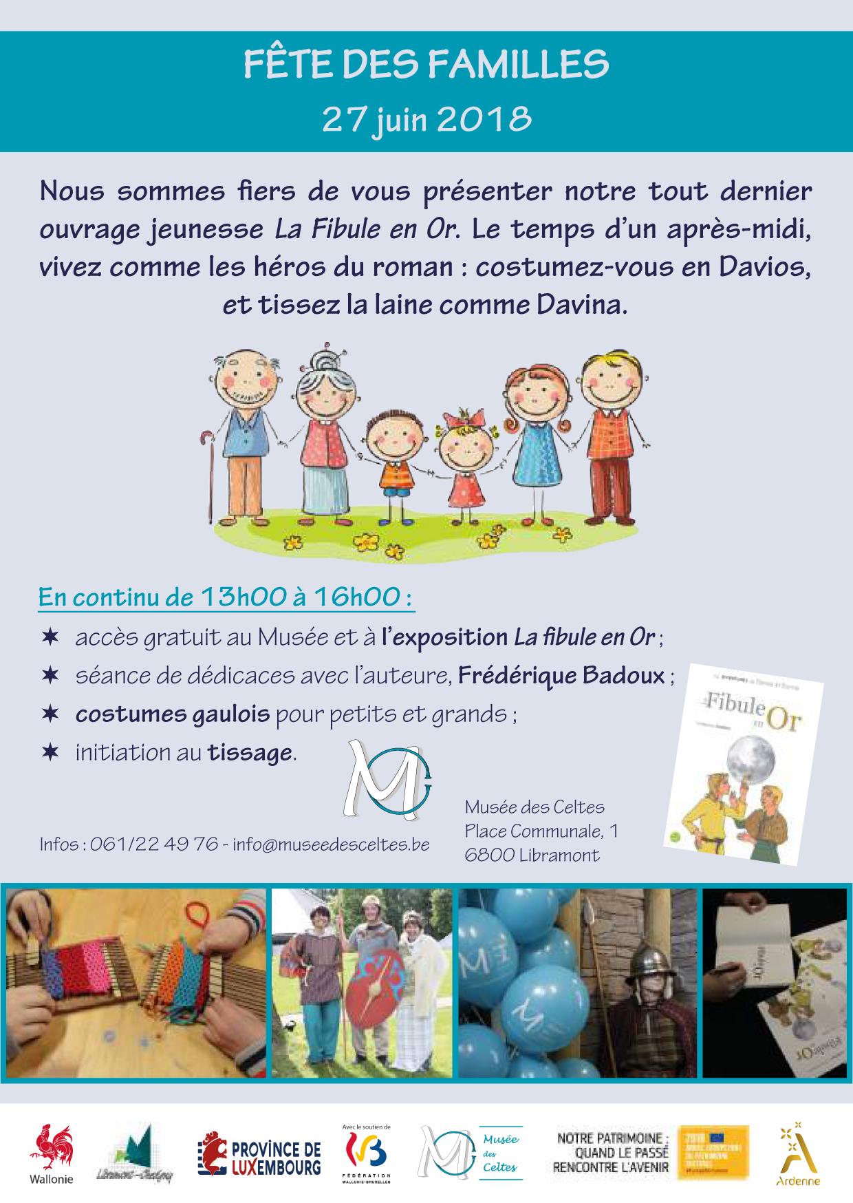 Fête des familles: animation autour du roman jeunesse La Fibule en Or photo