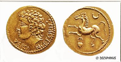 Reproduction statère d'or de Vercingétorix